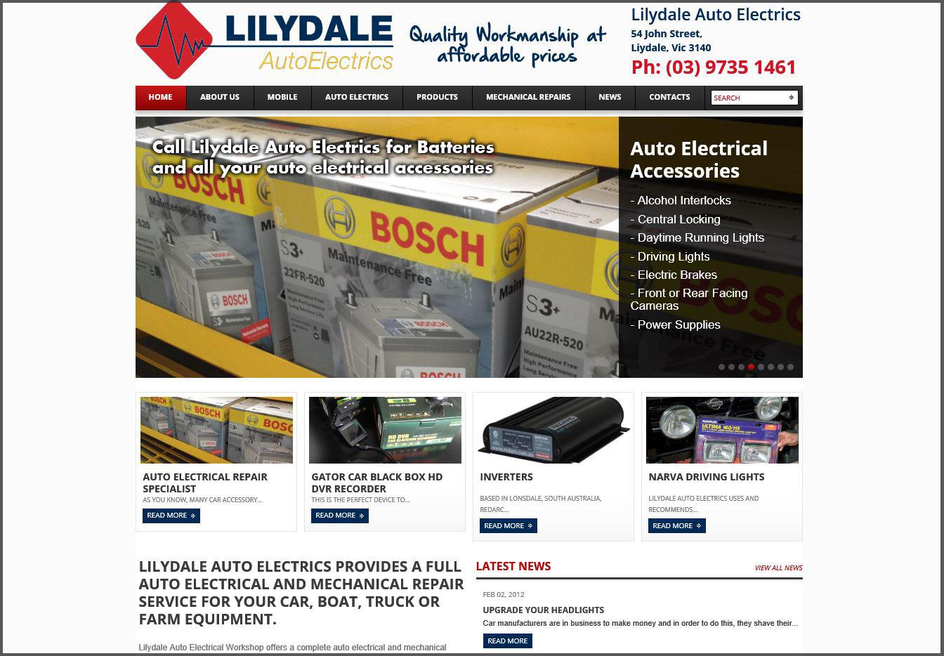 371913-Lilydale Auto Electrics website